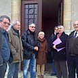 Visite à Dornes - Rencontre avec les élus