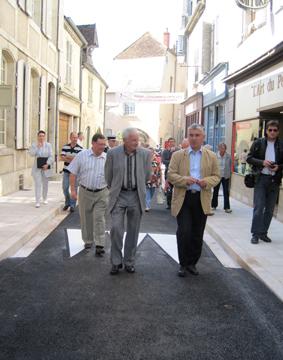 Inauguration de la rue des hotelleries à La Charité