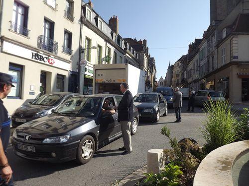 Sensibilisation des conducteurs à la zone 30 dans le centre-ville de La Charité