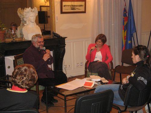 Yves Charnet  et Pascale Roze à la Charité