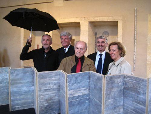Vincent Roca Marc Lecarpentier René de Obaldia et Michèle Kirry Préfète de la Nièvre