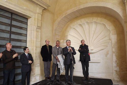 Inauguration des vitraux de Christopher Wool