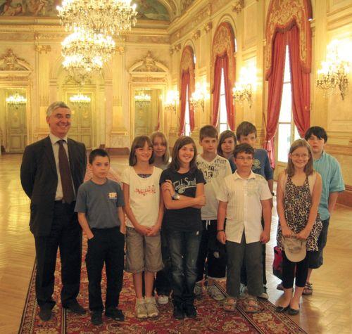 Le Conseil municipal de la Jeunesse en visite en juin 2011